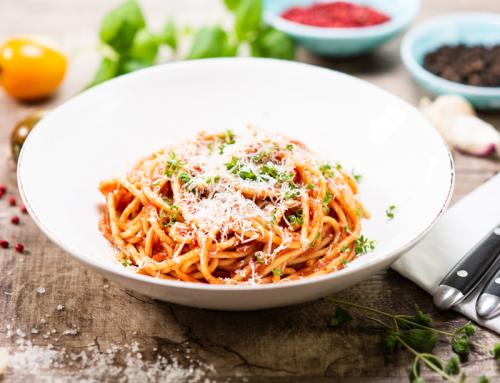 Pasta mit Tomatensauce Quattro Verdure
